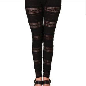 Free People Lazy Lace Leggings Pants Large
